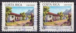 Costa Rica 2 Used Stamps, One Partly Imperforated Or Cut? - Costa Rica