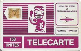 French Polynesia - OPT - Tiki Purple - SC4 GW, Cn. 11495 Embossed Dot By Dot, 150Units, Used - Polynésie Française