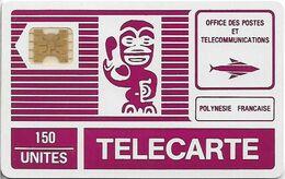 French Polynesia - OPT - Tiki Purple - SC4 GW, Cn. 11493 Small, 150Units, Used - Polynésie Française