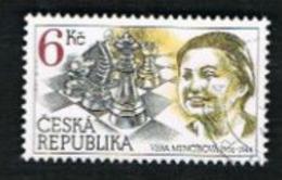 REP. CECA (CZECH REPUBLIC) - SG 121 - 1996 V. MENCIKOVA, CHESS CHAMPION  -   USED - República Checa
