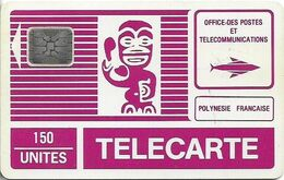 French Polynesia - OPT - Tiki Purple - SC4 SB, Cn. 32139 Embossed Dot By Dot, 150Units, Used - Polynésie Française