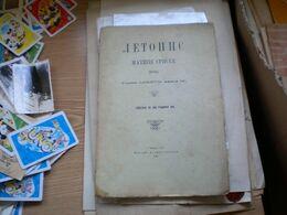 Letopis Matice Srpske Novi Sad 1911 80 Pages Jovan Hranilovic.... - Slavische Talen