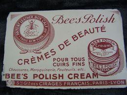 Buvard - Crème De Beauté - Bee's Polish - Société Générale Des Cirages Français - Moyen (vp 5) - Schuhe