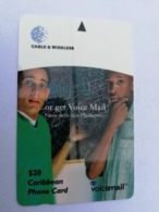 BARBADOS   $20-  Gpt Magnetic     BAR-323A  323CBDA    VOICE MAIL       Very Fine Used  Card  ** 2922** - Barbades