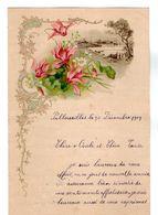 VP17.247 - 1909 - Lettre Illustrée Fleurs & Paysage Double Page - Mr Léon MILON à PELLOUAILLES - Old Paper