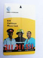 BARBADOS   $10-  Gpt Magnetic     BAR-323B  323CBDB    ALARM  211,311,511       Very Fine Used  Card  ** 2923** - Barbades
