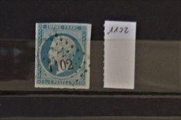 07 - 20 - France N°14 Oblitéré PC 1102 - Dijon - 1853-1860 Napoléon III