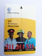 BARBADOS   $10-  Gpt Magnetic     BAR-333A  333CBDA    ALARM  211,311,511       Very Fine Used  Card  ** 2924** - Barbades