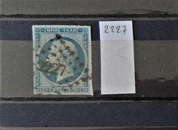 07 - 20 - France N°14 Oblitéré PC 2227 - Narbonne - 1853-1860 Napoléon III