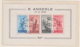 BELGIUM USED COB BL 26 ANSEELE - Bloques 1924 – 1960