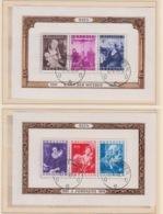 BELGIUM USED COB BL 27/28 JORDAENS & VAN DER WEYDEN - Blocks & Sheetlets 1924-1960