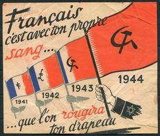 1940-44 WW2 France Propaganda Flyer. Communist Francais - 1939-45