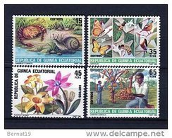 Guinea Ecuatorial 1985. Edifil 73-76 ** MNH - Guinea Equatoriale
