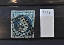 07 - 20 - France N°14 Oblitéré PC 2221 - Nantes - 1853-1860 Napoléon III