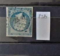 07 - 20 - France N°14 Oblitéré PC 2380 - Parce - Sarthe - Indice 12 - 1853-1860 Napoléon III