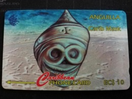 ANGUILLA  $10  GPT - CARIB MASK  NEW LOGO    200CAGA   ** 2927** - Anguilla
