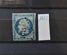 07 - 20 - France N°14 Oblitéré PC 1643 - Lannion - Côte Du Nord - 1853-1860 Napoléon III