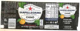 SAN PELLEGRINO CHINO' CHINOTTO 1 L ETICHETTA PLASTICA ITALY - Otros
