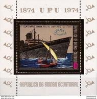 Guinée Equatoriale 1974 - MNH ** - UPU - Bateaux - Michel Nr. Bloc 141 (geq164) - Guinée Equatoriale