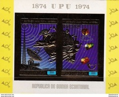 Guinée Equatoriale 1974 - MNH ** - UPU - Espace - Télécom - Michel Nr. Bloc A142 - V.C. 22 € ! (geq166) - Guinée Equatoriale