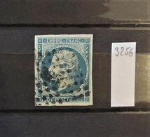 07 - 20 - France N°14 Oblitéré PC 3256 - St Quentin - 1853-1860 Napoléon III