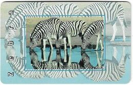S. Africa - MTN - African Animals - Zebra, R15, Solaic, Cn. Long, 1999, 100.000ex, Used - Afrique Du Sud