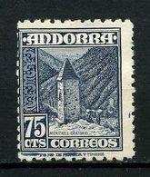 ANDORRE ESP 1948 N° 47 * Neuf MH  NSG Neuf Sans Gomme Petites Taches TB C 15 €  Oratoire De Meritxell - Unused Stamps