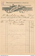 DROGUERIE INDUSTRIELLE ET AGRICOLE CABANES FILS A CLERMONT L'HERAULT............. FACTURE DE 1910 - Drogisterij & Parfum