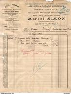 AGENCE RENAULT à CLERMONT L´HERAULT   .......... FACTURE DE 1929 - Auto's
