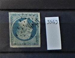 07 - 20 - France N°14 Oblitéré PC 3043 - St Die Des Vosges - 1853-1860 Napoléon III