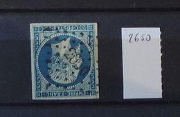 07 - 20 - France N°14 Oblitéré PC 2650 - Rennes - 1853-1860 Napoléon III
