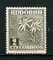 ANDORRE ESP 1948 N° 43A ** Neuf MNH Superbe Flore Fleurs Edelweiss Flowers Flora - Unused Stamps