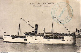 PAQUEBOTS  S.S. St- Antoine- Bateau Promenade    … Cachet Steam Yacht St Antoine - Paquebots