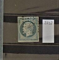 07 - 20 - France N°14 Oblitéré PC 2738 - Rouen - 1853-1860 Napoléon III
