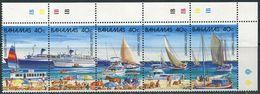 Bahamas 1987. Michel #653/57 MNH/Luxe. Tourism. Port. Ships (Ts10) - Bahamas (1973-...)