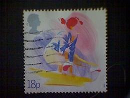 Great Britain, Scott #1209, Used (o), 1988, Balance Beam, 18p - 1952-.... (Elizabeth II)