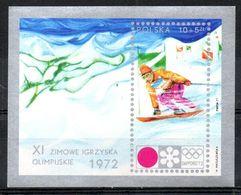 POLOGNE. BF 55 De 1972. J.O. De Sapporo/Ski. - Winter 1972: Sapporo