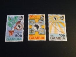 K33063 -  Set MNH Gambia 1975 - SC. 319-321 - African Development Bank - Gambie (1965-...)