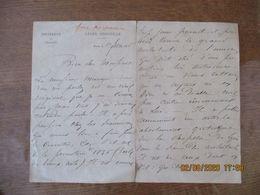 ROUEN LE 1er FEVRIER 1896 LYCEE CORNEILLE UNIVERSITE DE FRANCE COURRIER FRANC MACONNERIE - Manuskripte