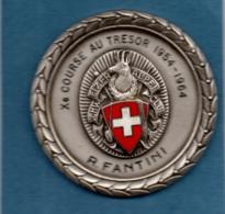 SVIZZERA - X COURSE AU TRESOR 1954 - 1964 R. FANTINI - CLUB ALPINO SVIZZERO - SCHWEIZER ALPEN CLUB - LAUSANNE - Entriegelungschips Und Medaillen