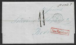 1856 ENTIRE RUSSIA RUSSLAND RUSSIE - ST.PETERSBURG A BORDEAUX - AUS RUSSLAND - Ms PORTO 3 - 1857-1916 Empire