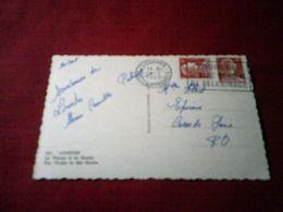 LOURDES LE 14 08 1955   FLAMME AVEC 2 TIMBRES DE 6 Fr - Covers & Documents