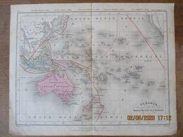 OCEANIE PAR MM. ACHILLE MEISSAS ET A. MICHELOT 1873 GRAVE PAR JACOBS ET BARTHELEMIER IMP. PAR LAMOUREUX - Carte Geographique