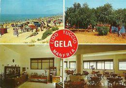 """8813"""" LIDO TUCCIO-MANFRIA-GELA """"4 VEDUTE -CARTOLINA POSTALE ORIG. SPED.1993 - Gela"""