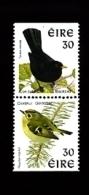 IRELAND/EIRE - 1998 BLACKBIRD-GOLDCREST PAIR PERF.14x15 NO PH.FRAME  MINT NH - 1949-... República Irlandése