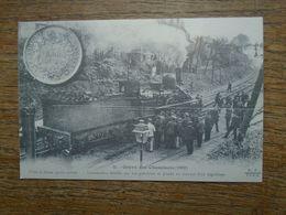 """Réédition , Cartes D'autrefois , Grève Des Cheminots ( 1910 ) Locomotive Dételée """" Carte Animée """""""" - Huelga"""