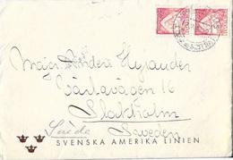 PORTUGAL SWEDEN T.P.O. Railway Cancellation AMBULANCIAS / LINHA DE SINTRA I Cover With Contents SVENSKA AMERIKA LINIEN - 1910-... République