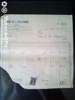 FATTURA COMMERCIALE - TERME DI S. PELLEGRINO - 1955 - Italy