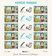 LOT 2061 POLYNESIE N° 292-293-294 FEUILLE DE 10 EX ** - Polinesia Francese