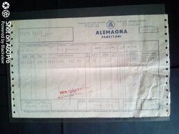 FATTURA COMMERCIALE - ALEMAGNA PANETTONI - MILANO 1955 - Italy